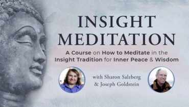 Insight Meditation with Sharon Salzberg & Joseph Goldstein